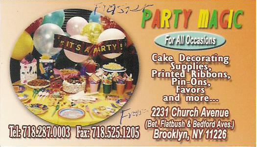 Party Supplies Magic 718 287 0003